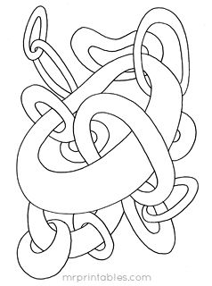 Abstract colouring pages- Mr Printables. Because Why not ...