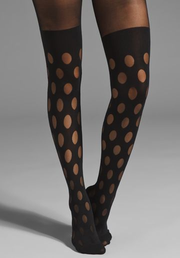 5e45bc7f248 PRETTY POLLY House of Holland Reverse Dot Mock Tights in black ...