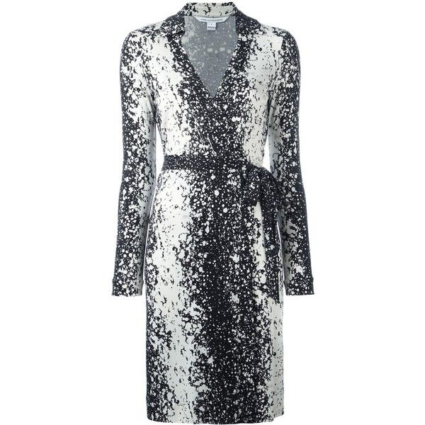 Dvf Diane Von Furstenberg splatter print wrap dress (7,290 MXN ...