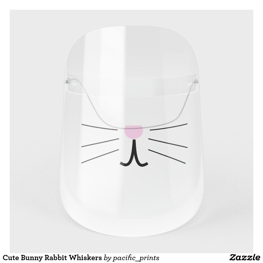 Cute Bunny Rabbit Whiskers Face Shield | Zazzle.co