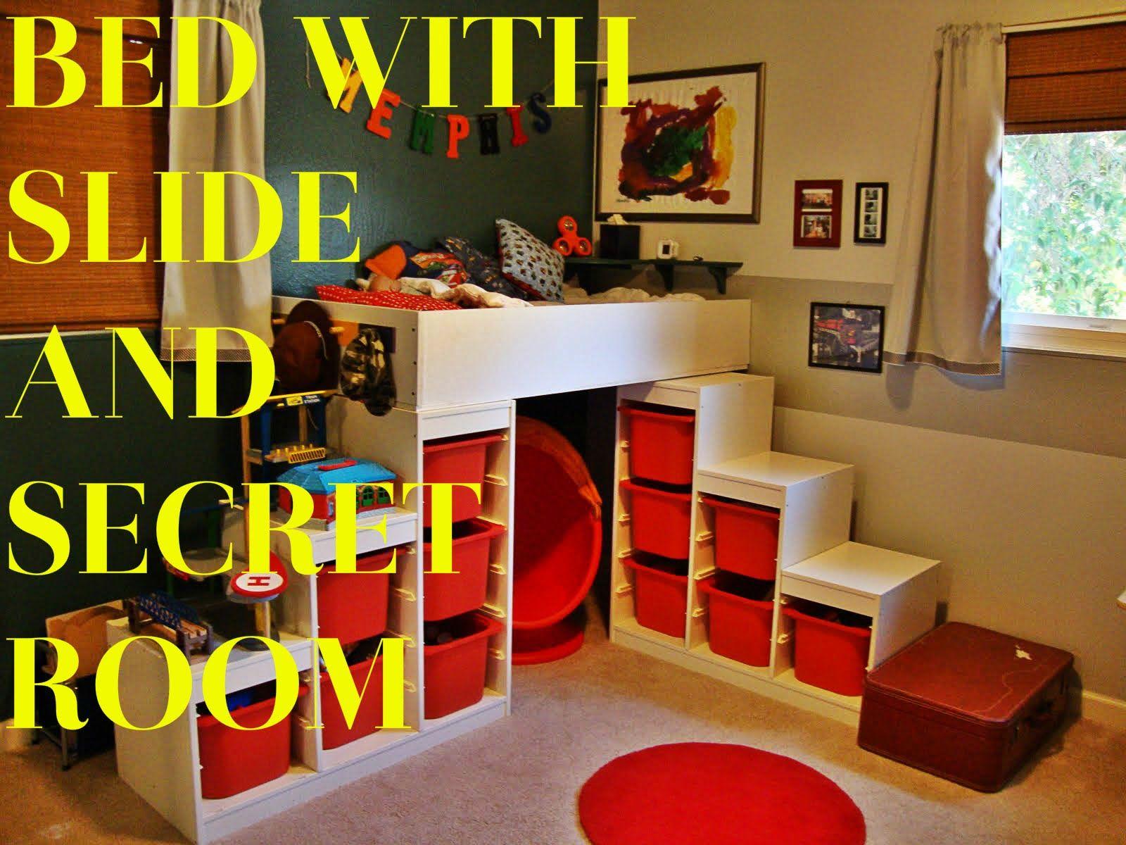 Best New Ikea Hack Kura Bed With Slide And Secret Room Bed 400 x 300