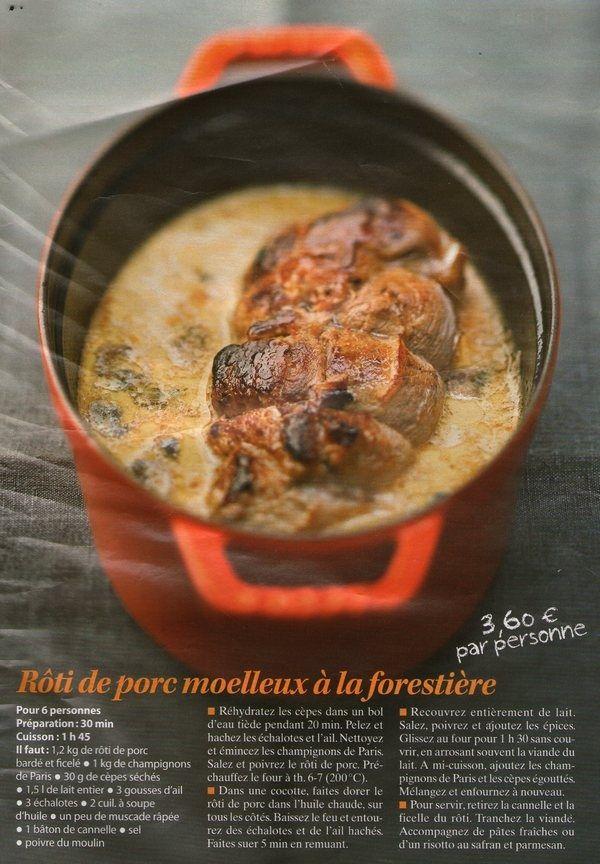 Roti De Porc Moelleux A La Forestiere Cuisine Pinterest Rotis