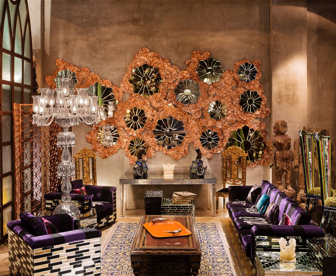 Luxury prèt furniture custom designed by sussanne khan for the charcoal project