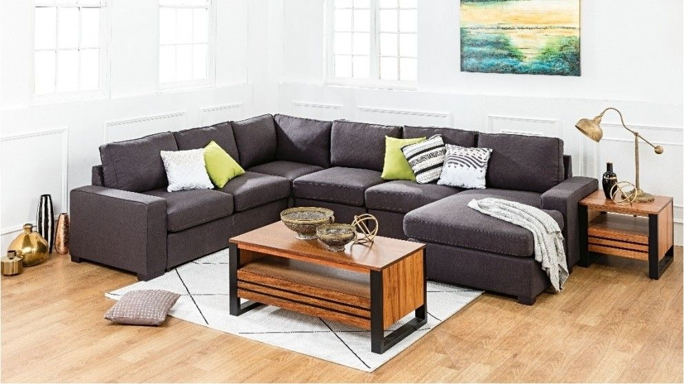 Rosemont fabric modular lounge with sofa bed and for Sofa bed harveys
