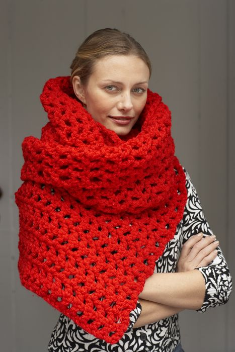 I\'m going to try to make this beautiful red oversized scarf this ...