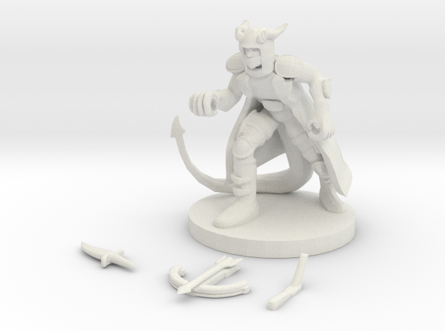 Tiefling Rogue - free 3d printer files for D&D gameplay on