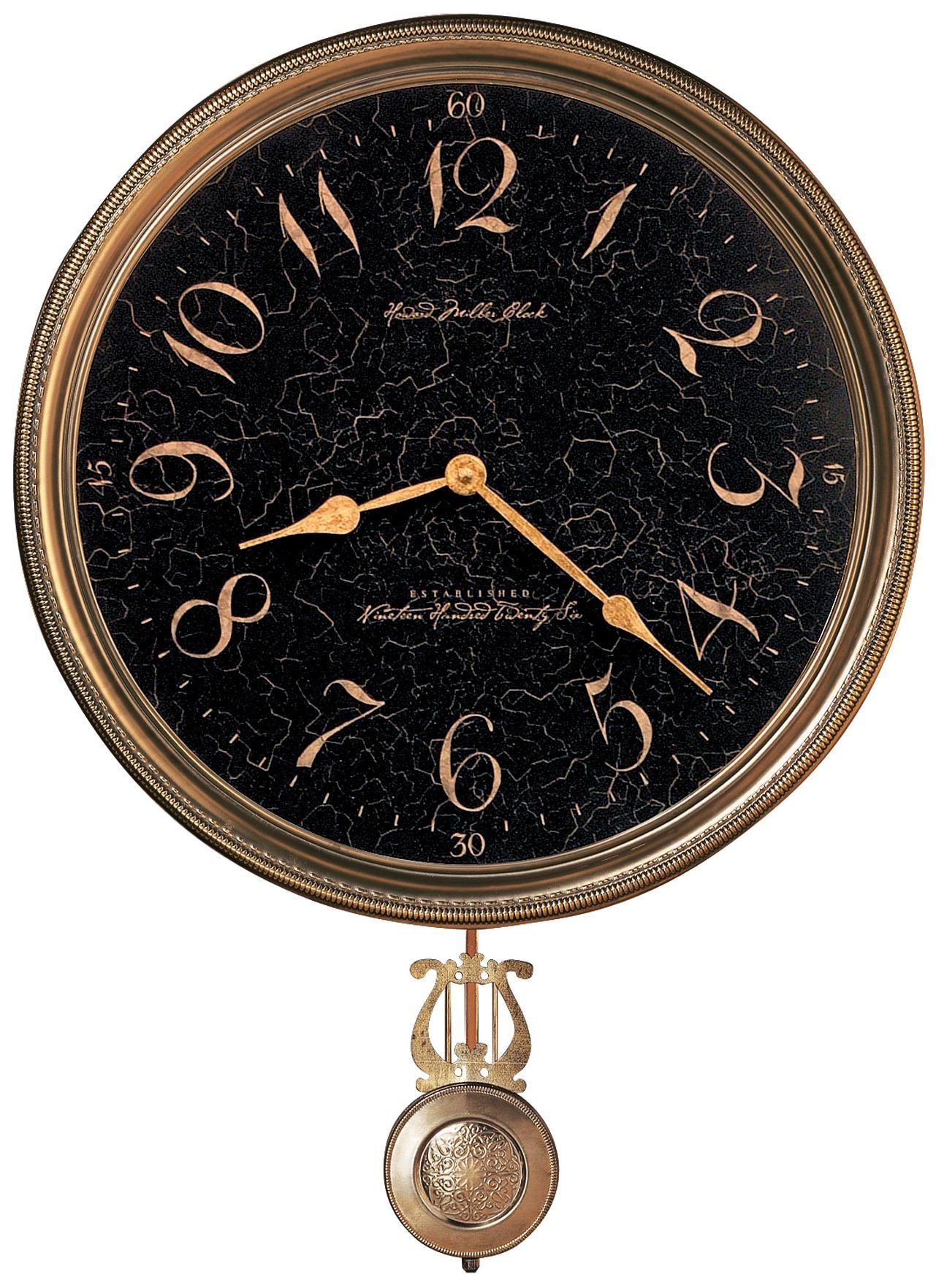 Howard Miller 21 High Paris Night Brass Wall Clock Pariser Stengel Just In Case