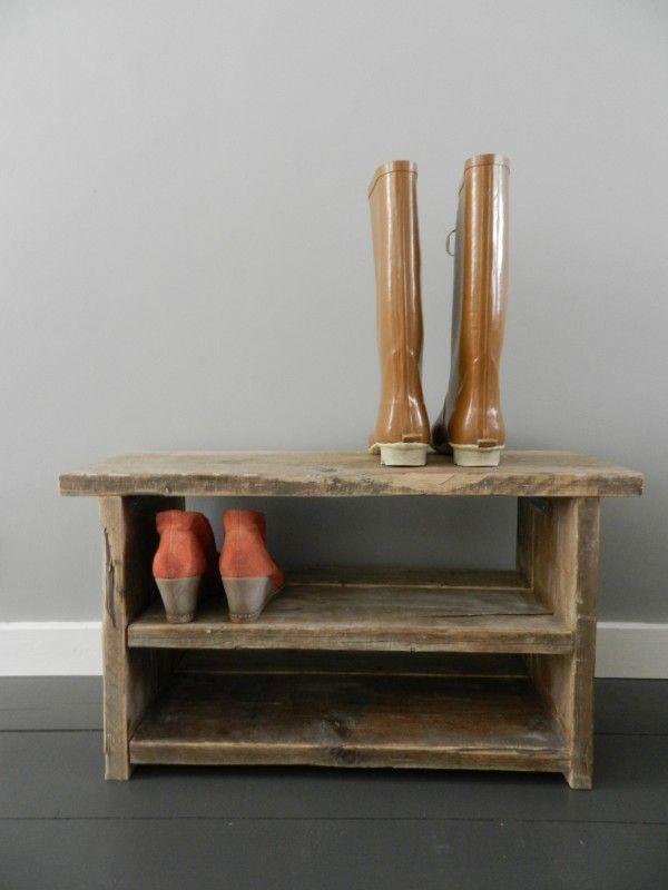 Steigerhout schoenenkastje meubels huis grietje dressing pinterest meubels - Opslag voor dressing ...