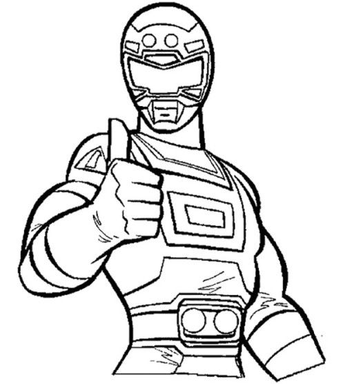 Power Rangers Red Turbo Coloring Book  Kids Coloring Pages