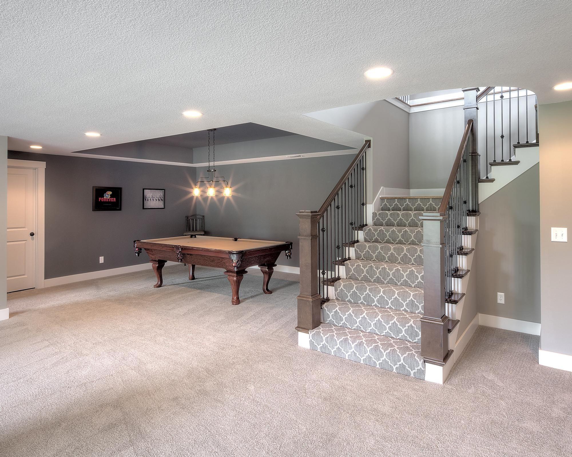 The Amity Valley Custom Homes In Kansas City Ks Starr Homes Basement Makeover Finishing Basement Basement Apartment Decor