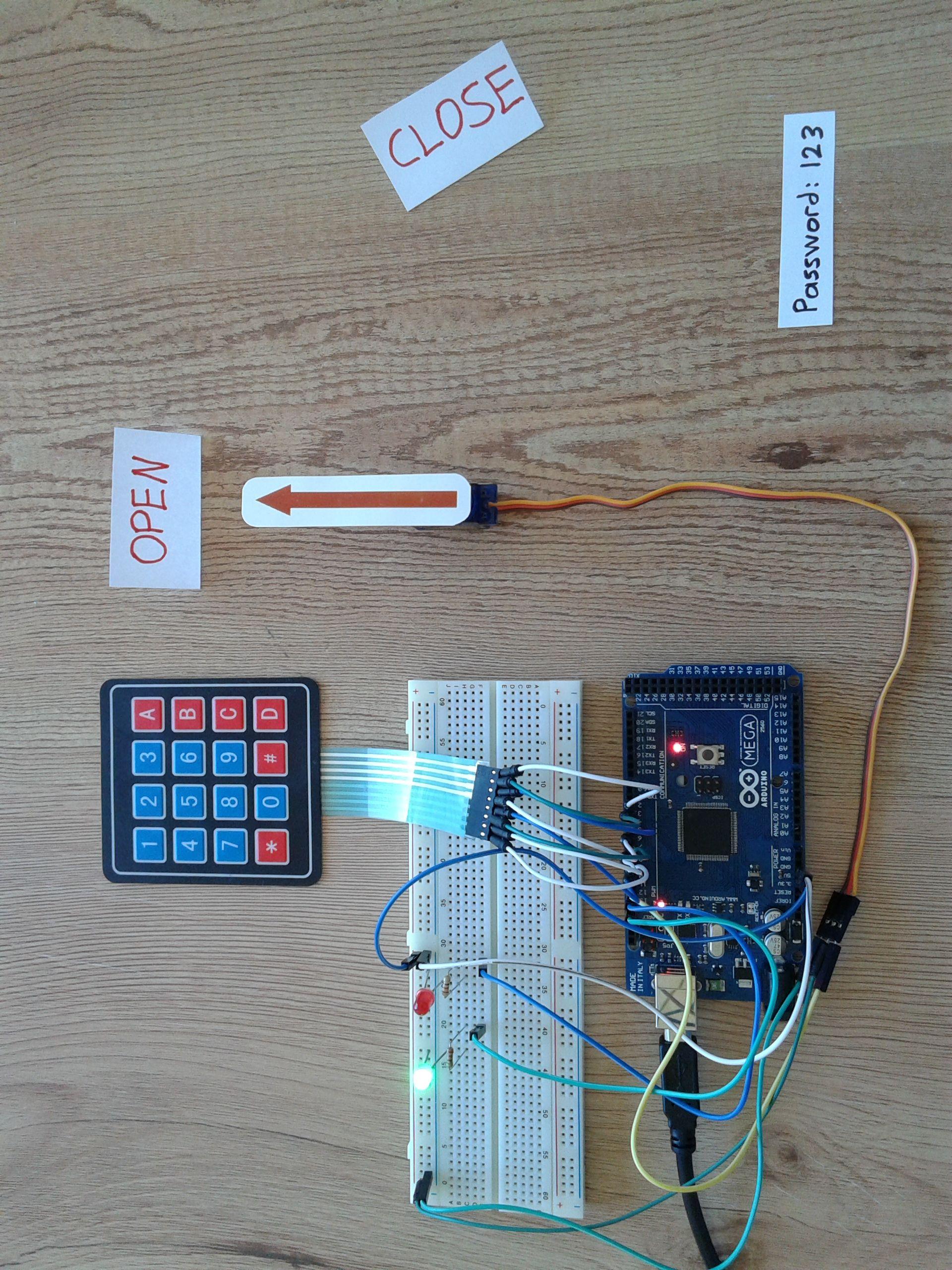 Project 20 Arduino Door Lock Using 4x4 Keypad And Servo Motor 1 Wiring