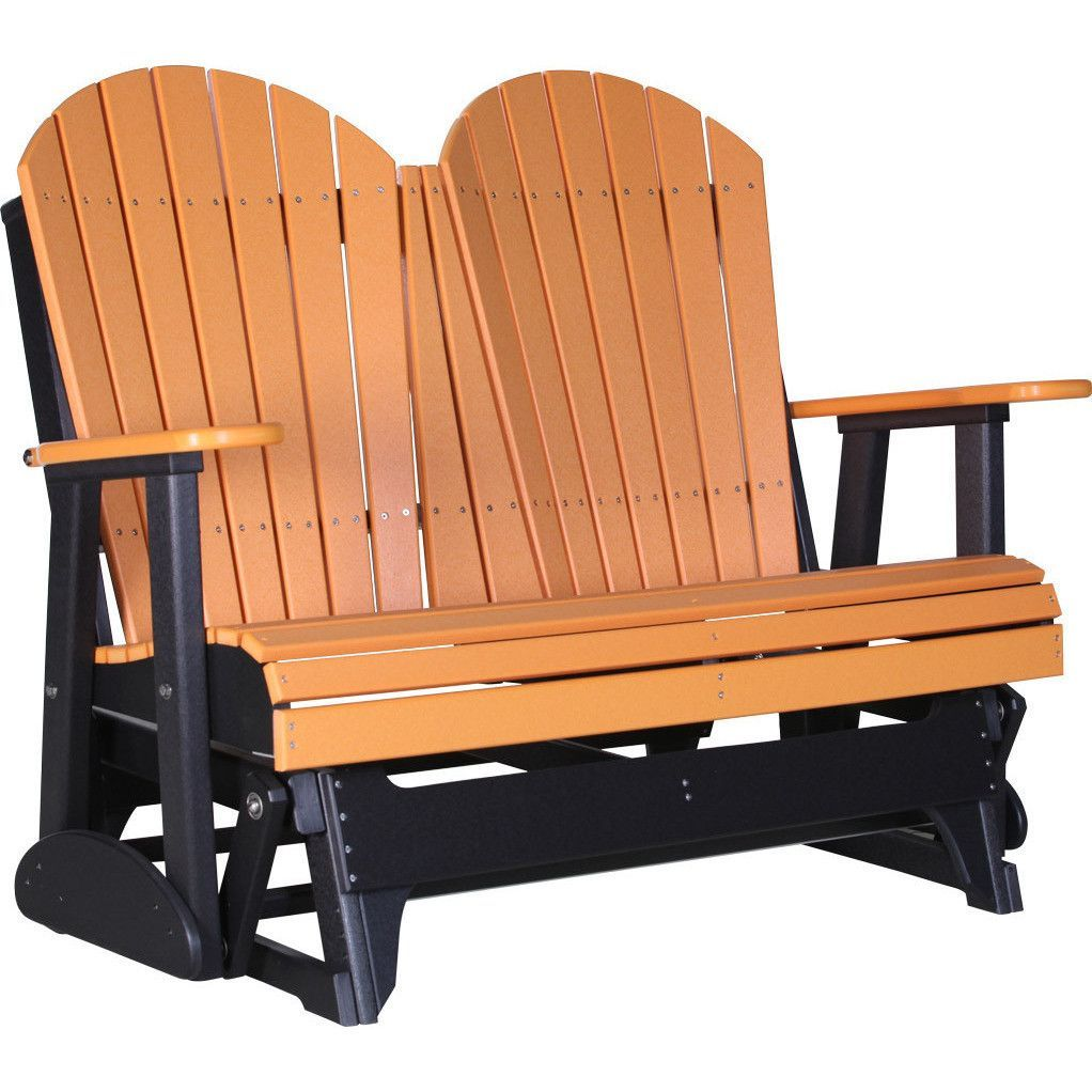 Luxcraft Recycled Plastic 4 Adirondack Glider Chair Lead Time To Ship 14 Weeks Outdoor Glider Glider Chair Porch Glider