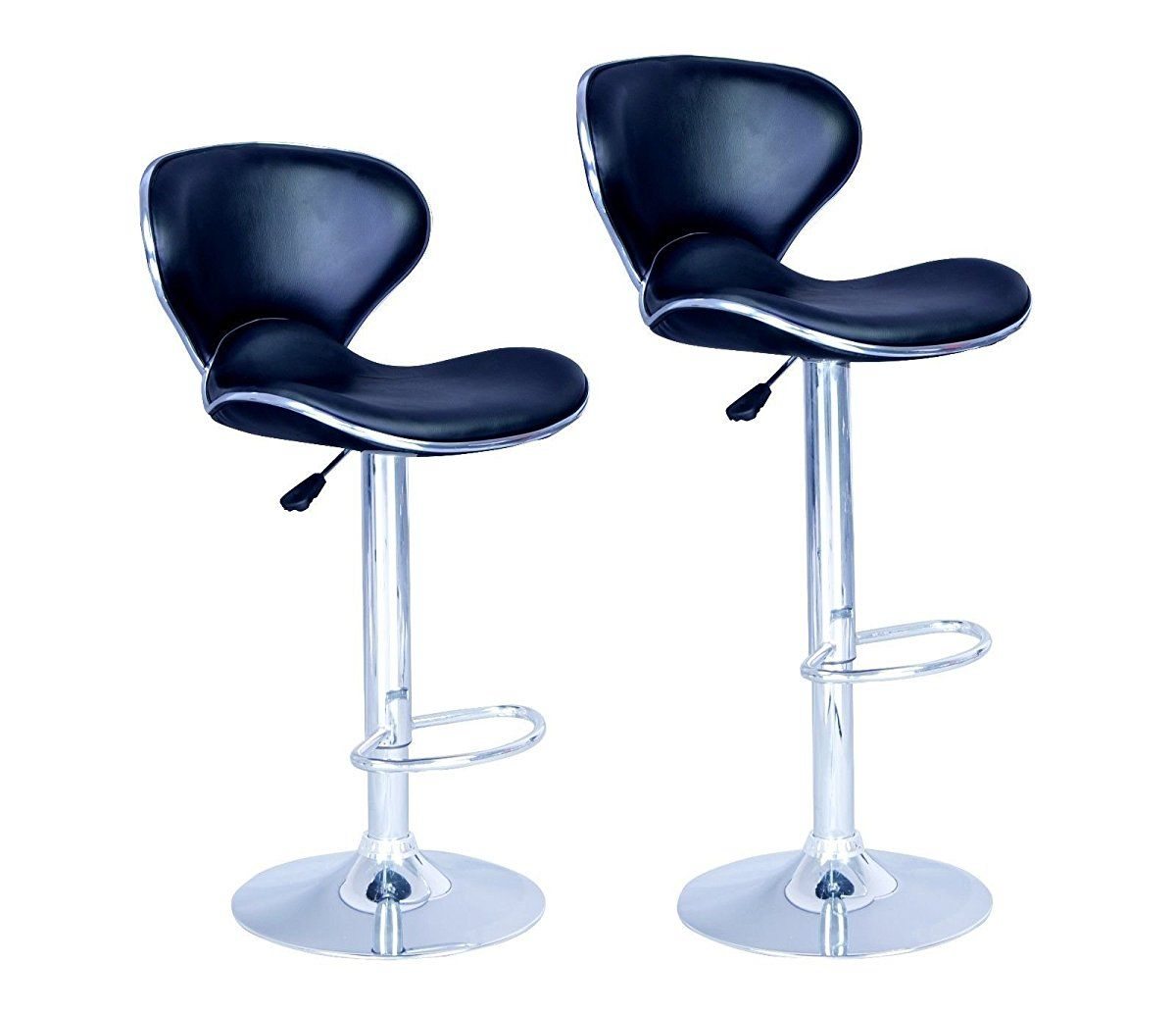New Modern Adjustable Synthetic Leather Swivel Bar Stools Chairs