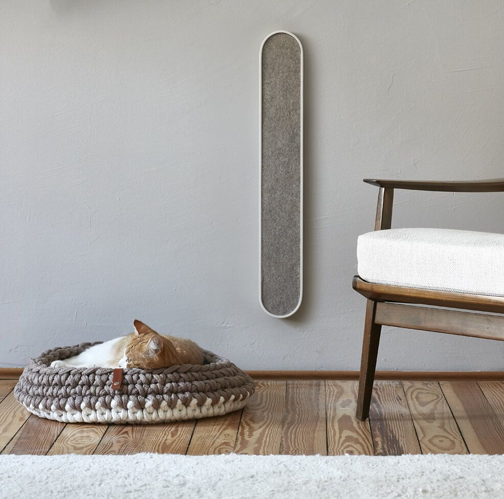 Slim wallmounted cat scratcher WHITE VOLTO Cat