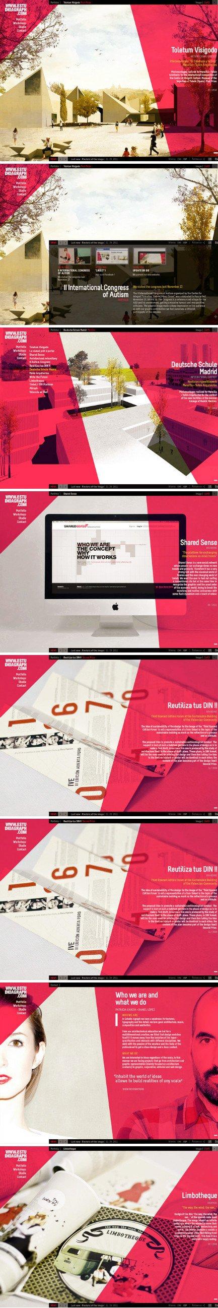 Pagina web arquitectura composci n visual foto planos for Arquitectura pagina web