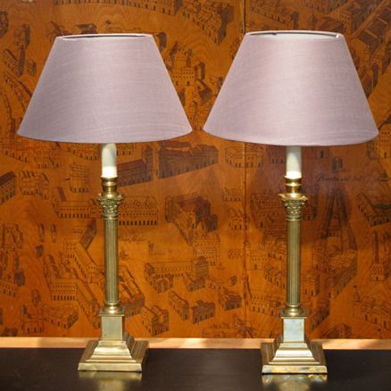 Table lights a good quality pair of late 19th early 20th century table lights a good quality pair of late early century english table lamps of classical shape having been recently rewired to uk standards greentooth Images