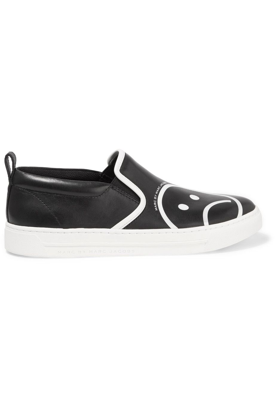 MARC BY MARC JACOBS Broome printed leather slip on sneakers.  #marcbymarcjacobs #shoes #
