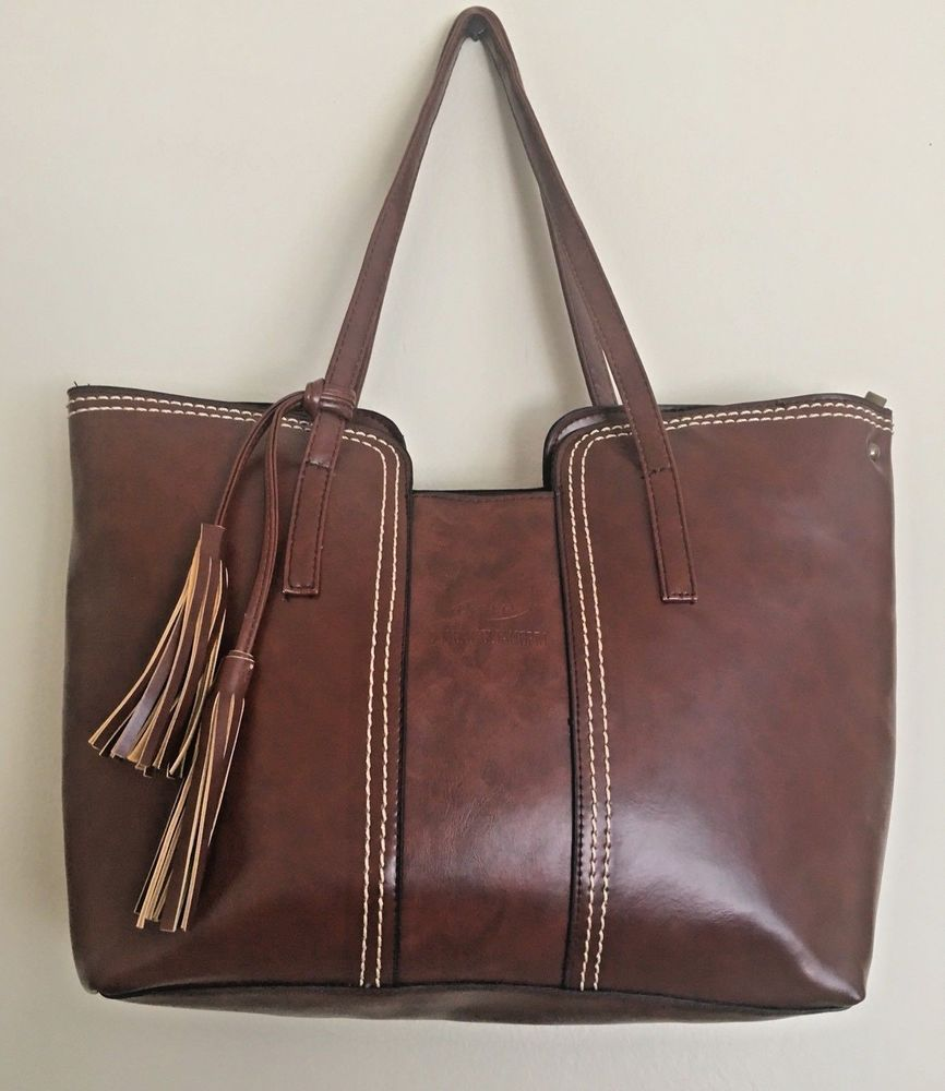 cd3a531bfa3 Fashion Bag Brown Faux Leather Handbag Shoulder Crossbody Satchel Bag Purse   Xslp  Crossbody