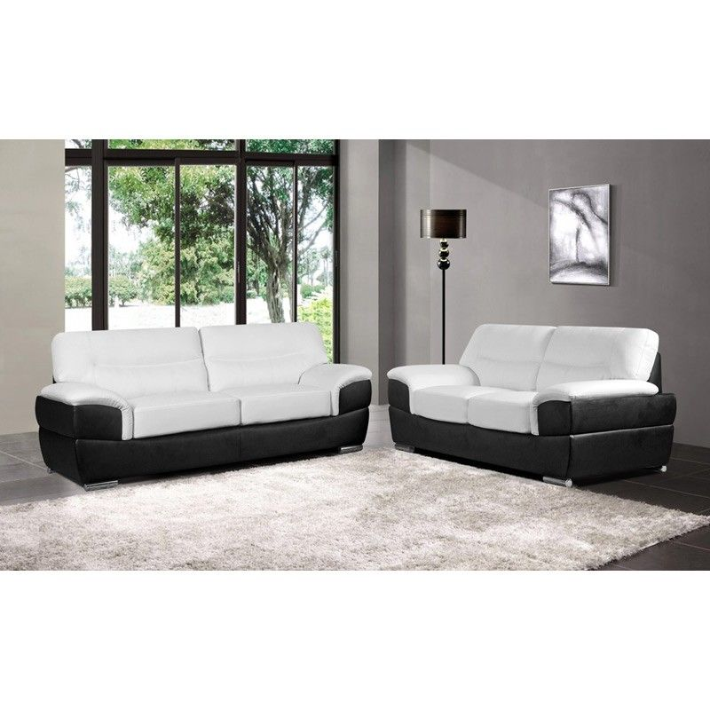 Modern Black And White Leather Sofa Barletta White Leather Sofas