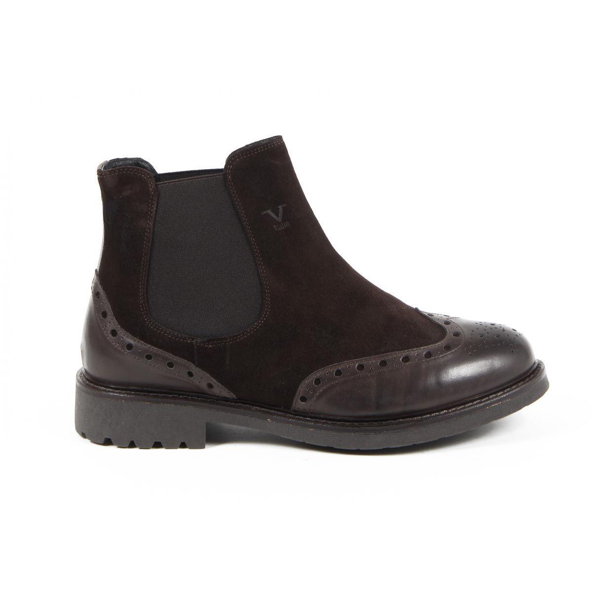 Versace 19.69 Abbigliamento Sportivo Srl Milano Italia Mens Ankle Boot V7015 T. MORO