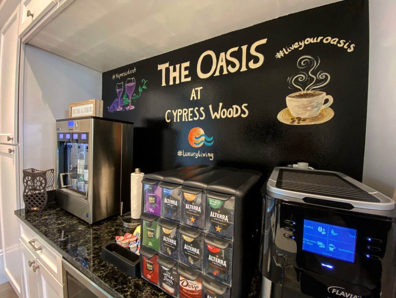 #oasisatcypresswoods #picerne #liveyouroasis #luxuryliving #coffee #