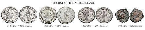 أنتونينياس وبالإنجليزية Antoninianus وهي عملة معدنية كانت تستخدم في عهد الامبراطورية الرومانية ي عتقد انها كانت تبلغ قيمتها 2 د Roman Currency Currency Roman