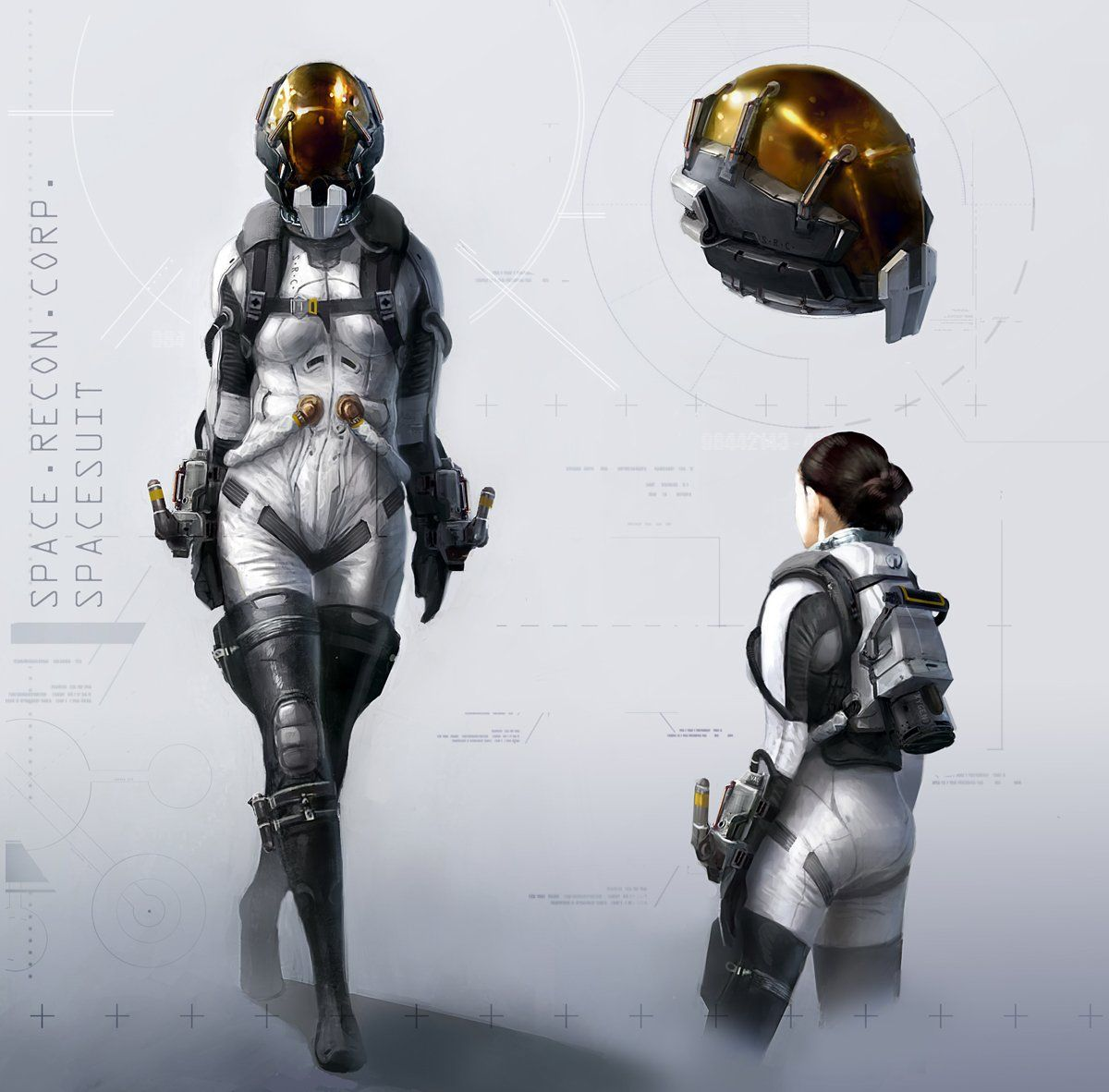Sci-Fi Space Suit Back - Pics about space