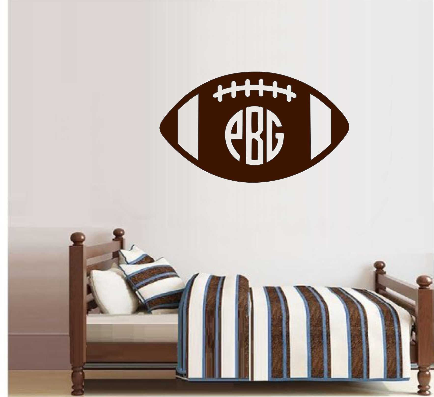 custom football name vinyl wall lettering sports decal wall