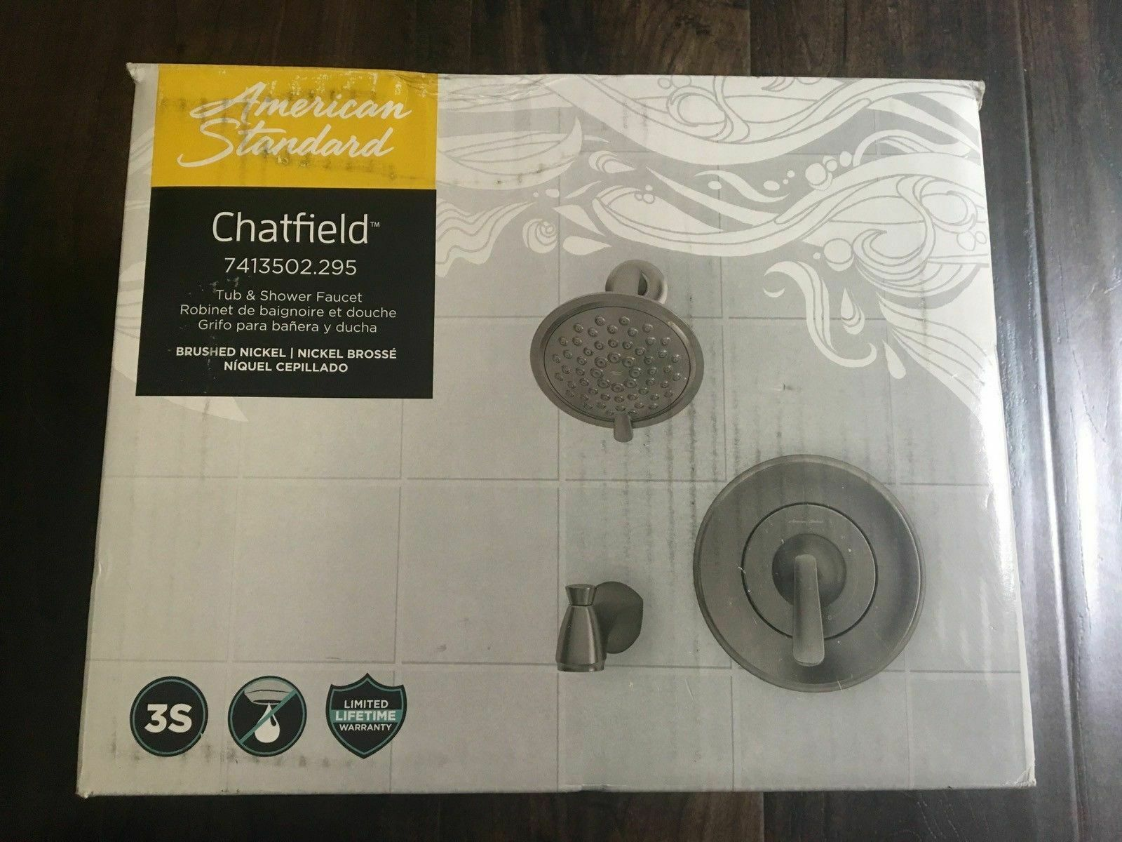 American Standard Chatfield Tub Shower Faucet Valve Brushed Nickel 7413502 295 Kitchen Faucets Ideas Of K Shower Faucet Tub And Shower Faucets Shower Tub