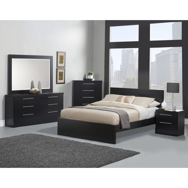 Sandberg Furniture Diamante Bedroom Set - Overstock™ Shopping - Big