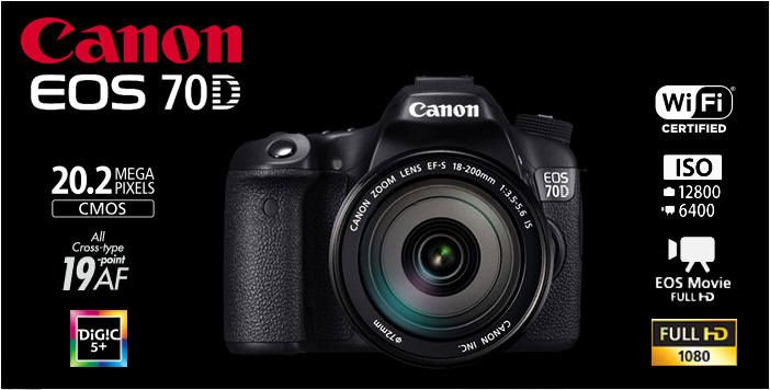 Canon EOS 70D with 20.2MP, WiFi, EOS Movie and Full HD 1080p - Visit http://canoncamera.us for more information and reviews.