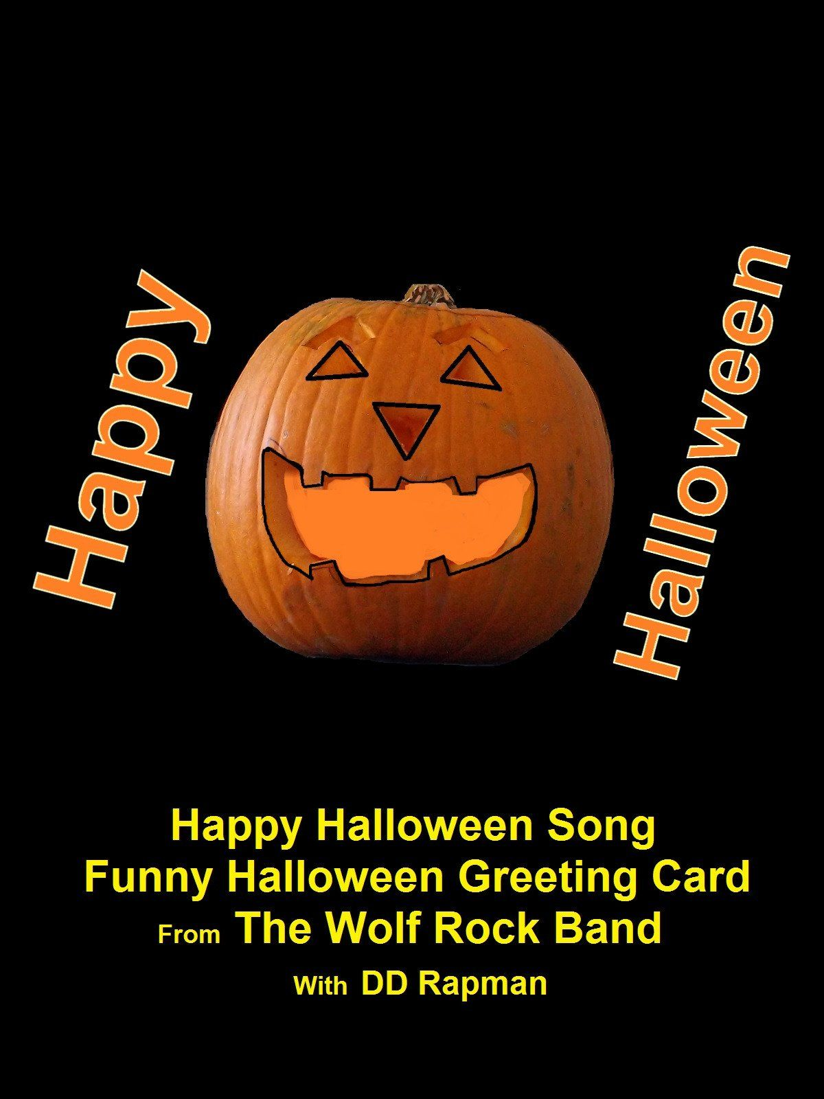 Happy Halloween Song Funny Halloween Greeting Card From