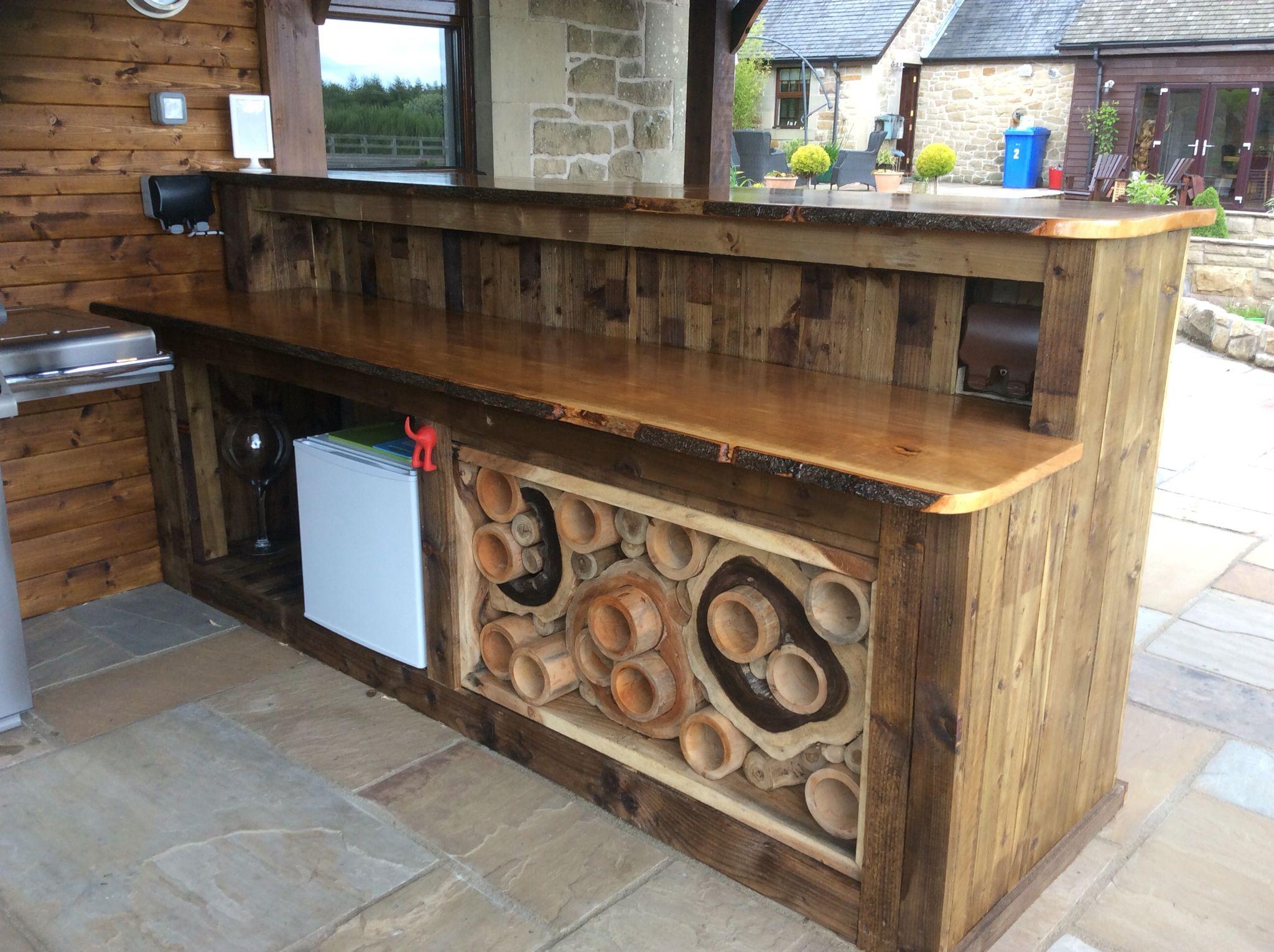 Outdoor Kitchen / Recycled DIY Pallet Bar: Wine Rack From Fryu0027s Teak  Furniture (frysteakgarden