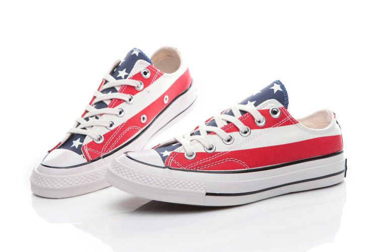 4865faf0aa06 Converse Chuck Taylor All Star Americana USA Flag Low Top Canvas Shoes