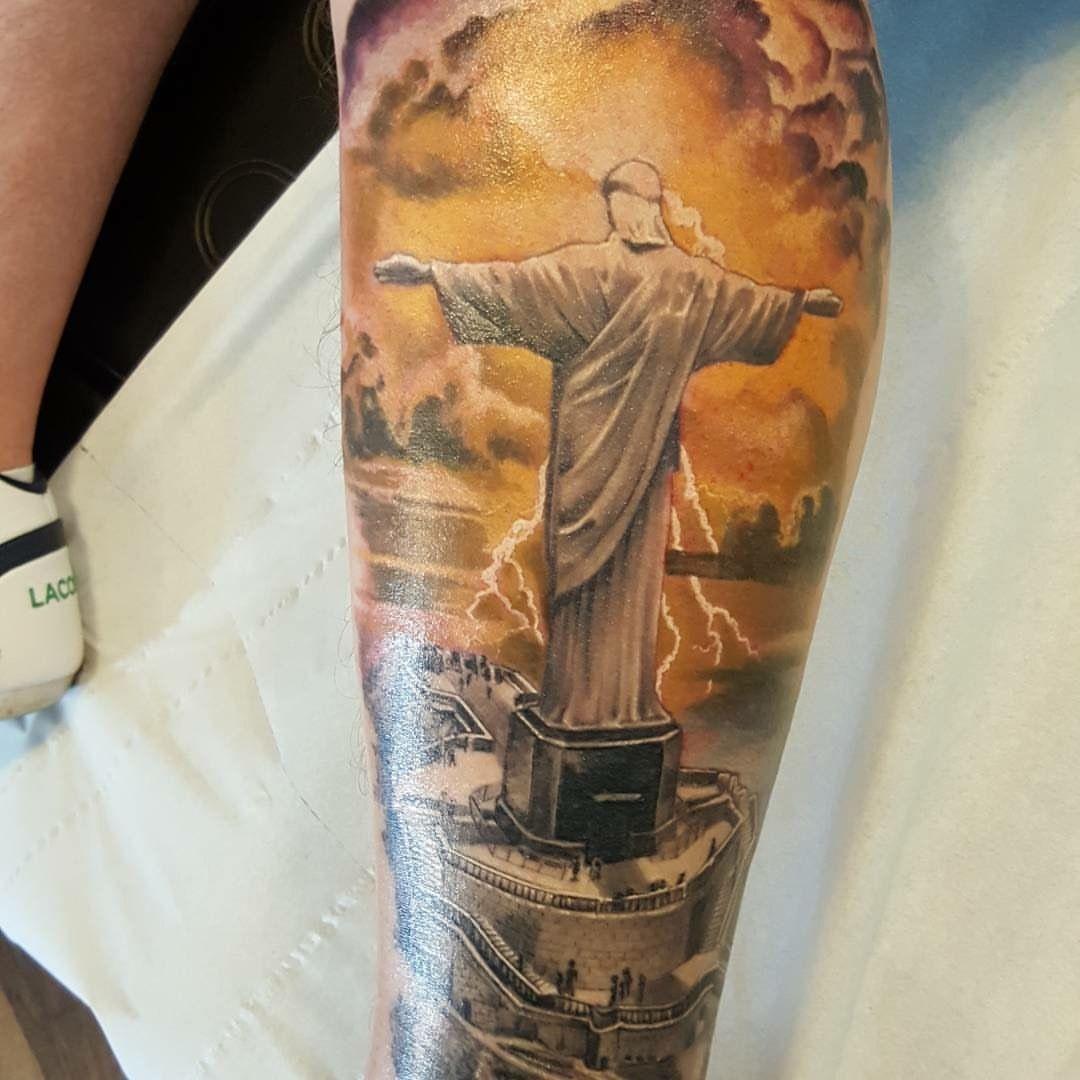 christ the redeemer tattoo my tattoos pinterest tattoo tatting and jesus tattoo. Black Bedroom Furniture Sets. Home Design Ideas