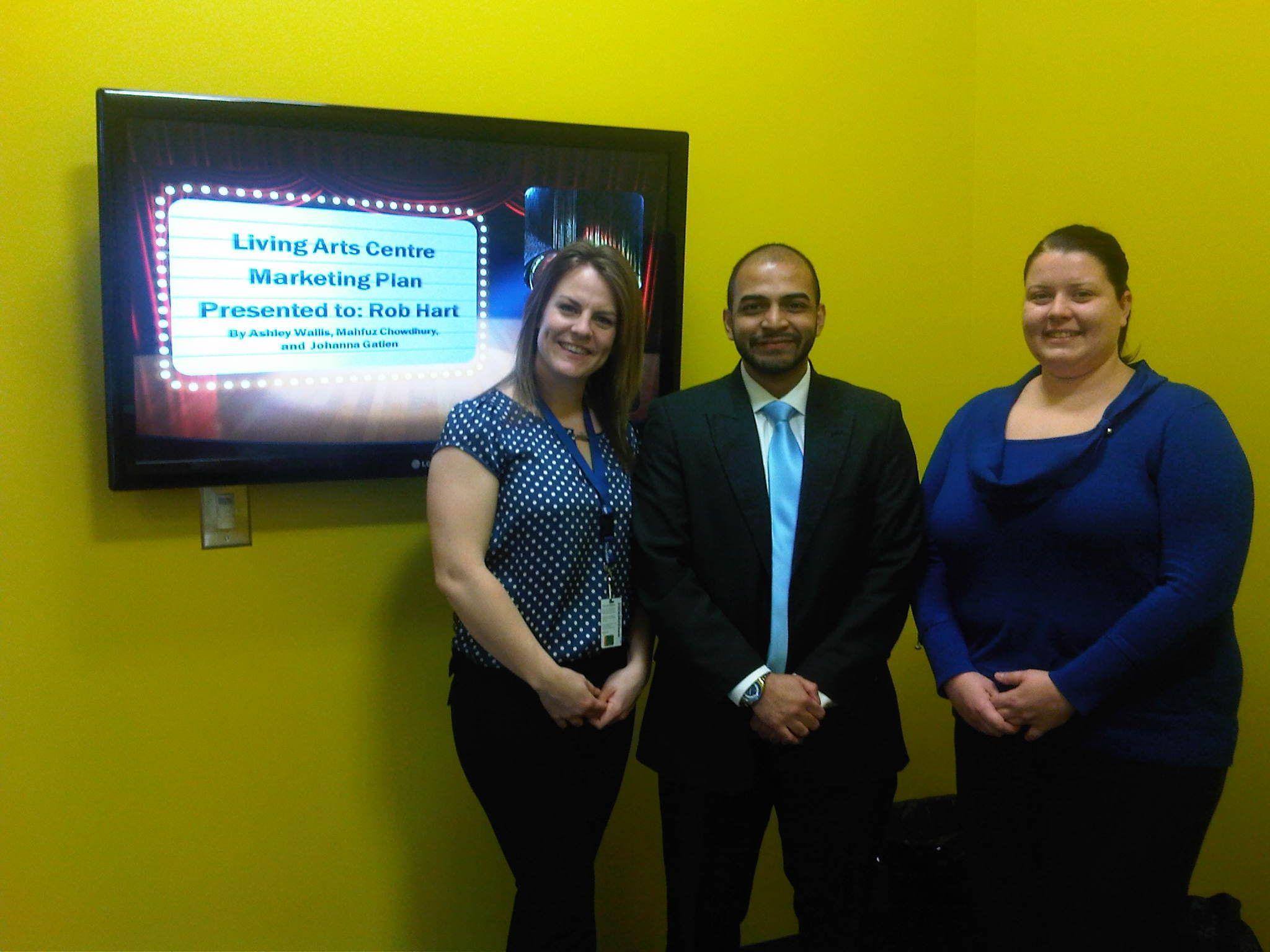 Third Year Marketing Undergrads presenting their Marketing