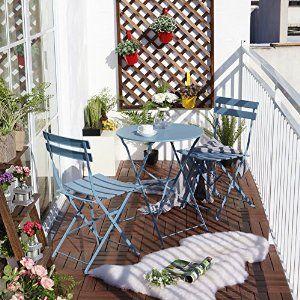 Amazon Com Grand Patio Outdoor Balcony Folding Steel Bistro
