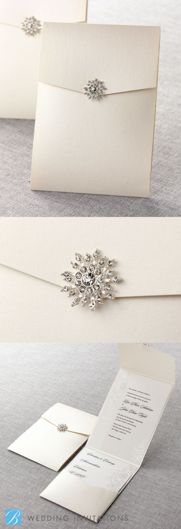 High Quality Embossed Romantic Couture By B Wedding Invitations... I Like The Idea Of  Having