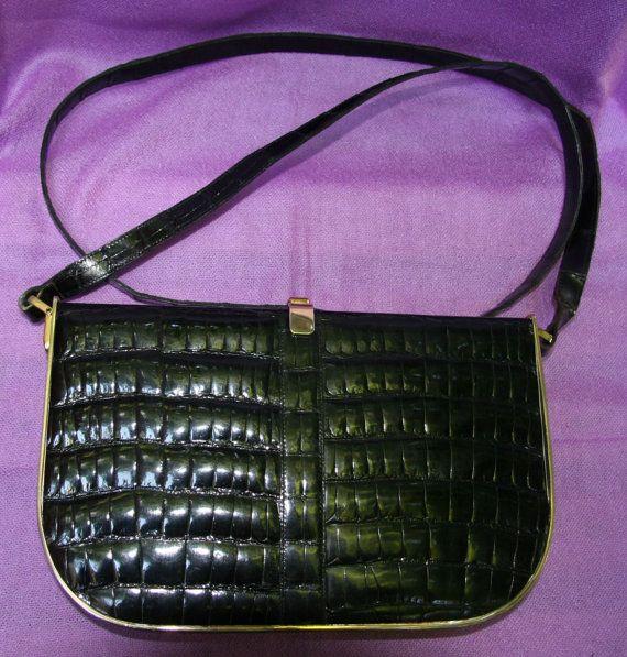 Rare Vintage Charles Jourdan Paris Black Leather By Vintagedeparis Leather Handbag Purse Black Leather Handbags Black Leather Purse