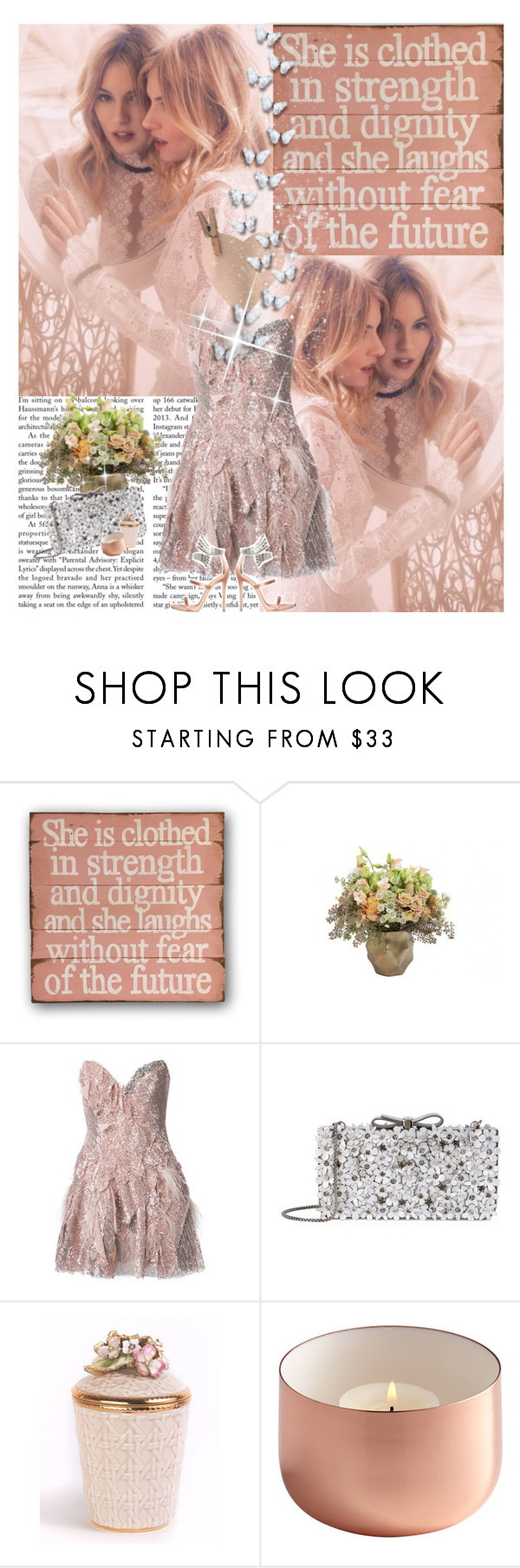 """""""#133"""" by beautifulplace ❤ liked on Polyvore featuring Jayson Home, Trash-Couture, Salvatore Ferragamo, Jay Strongwater and Giuseppe Zanotti"""