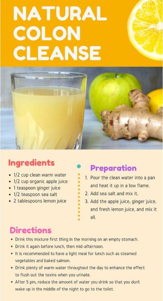 Home Remedies For Colon Cleansing Detox Juice Natural Colon Cleanse Detox Drinks
