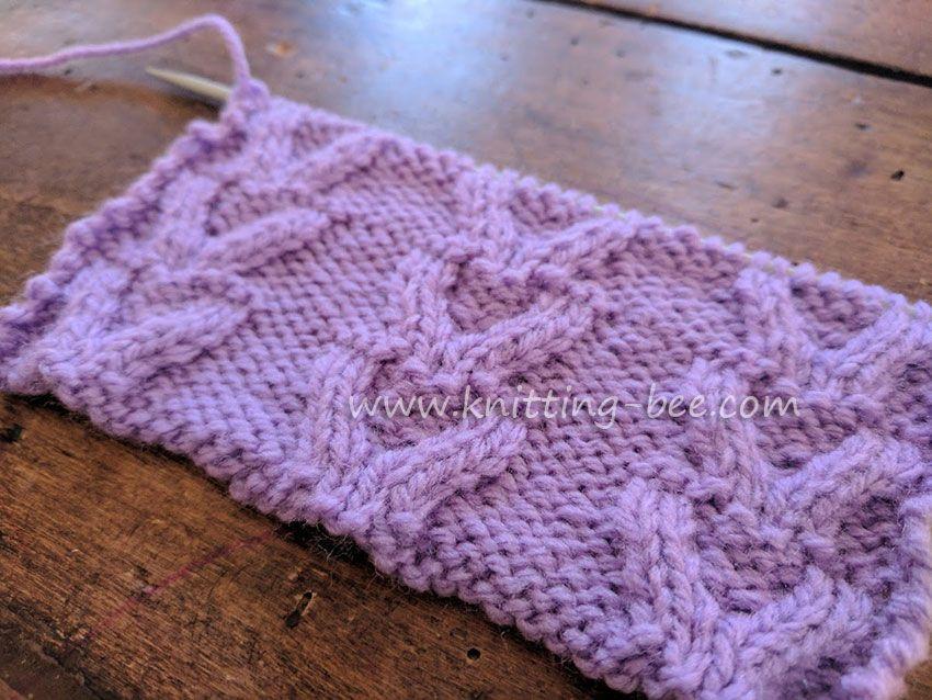 Free Cable Knitting Stitch Horseshoe Stitch By Knitting Bee
