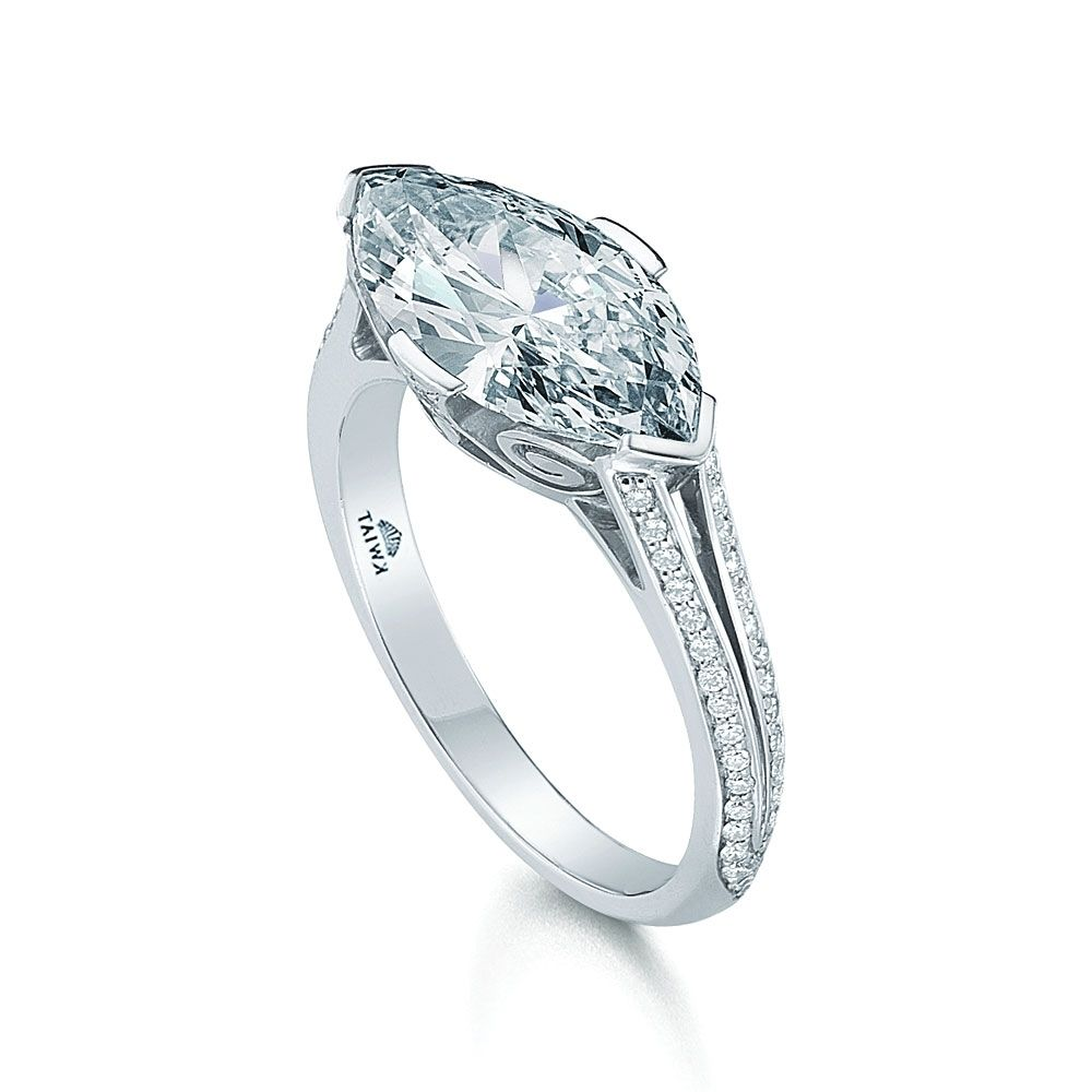 engagement settings sku cut tone diamond shipping mount at antique semi gold moissanite checkout jewellery unique marquise two setting ring calculated
