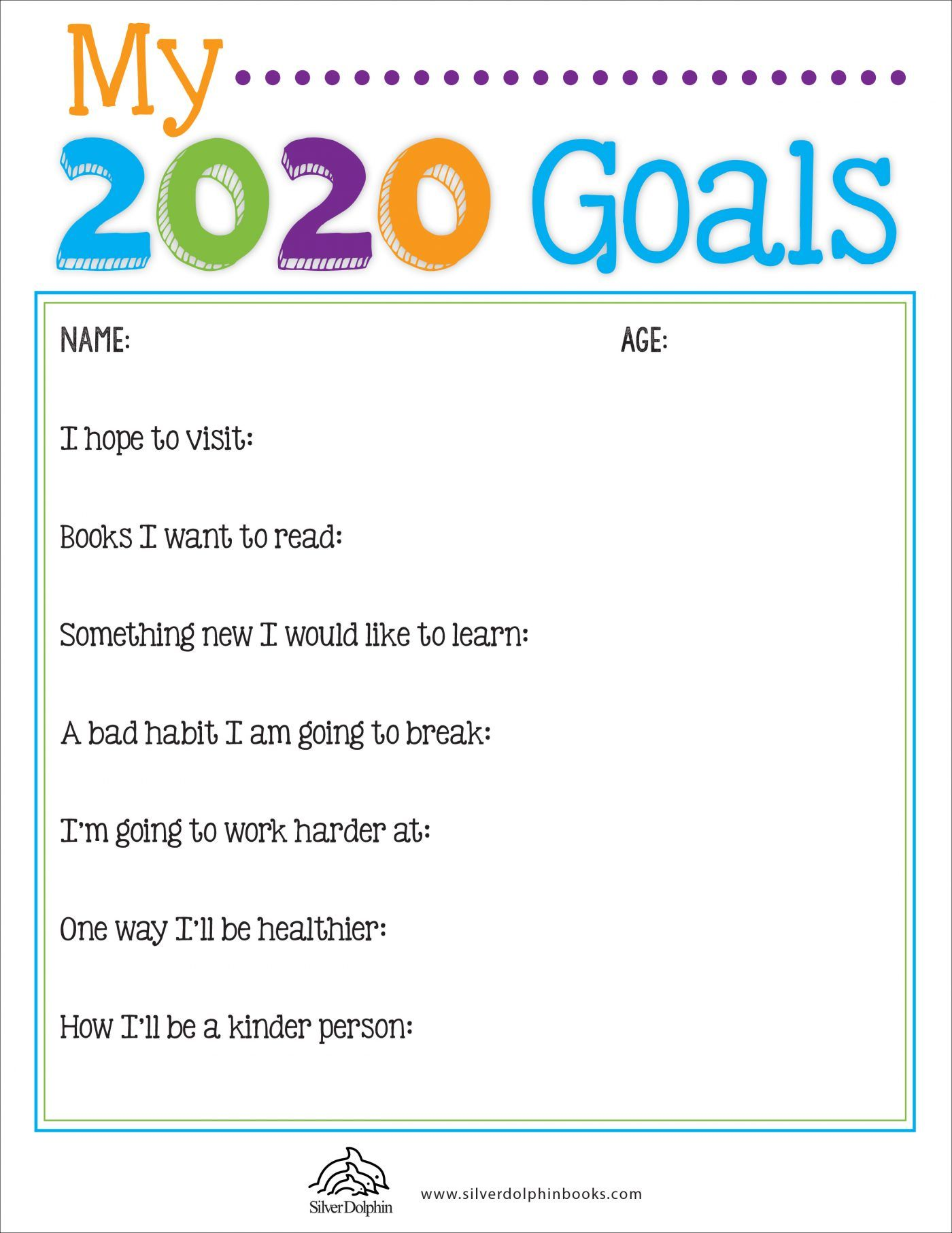 2020 GoalSetting Worksheet Goals worksheet, Worksheets