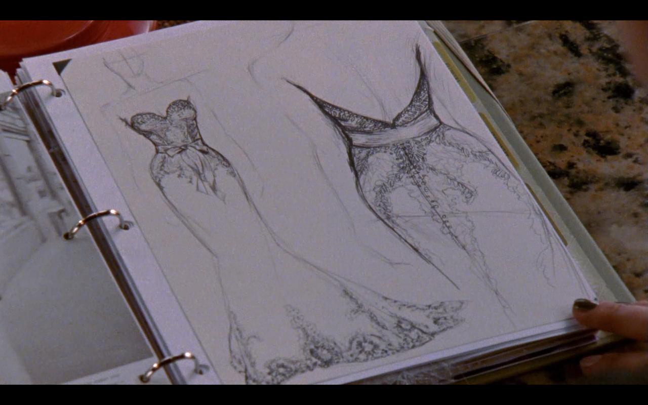 One Tree Hill\'s Brooke Davis\' wedding dress sketch. Maybe a dream ...