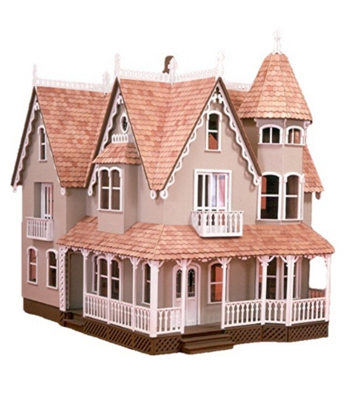 Amazon Com Greenleaf Dollhouse Kit Garfield Wooden Dollhouse