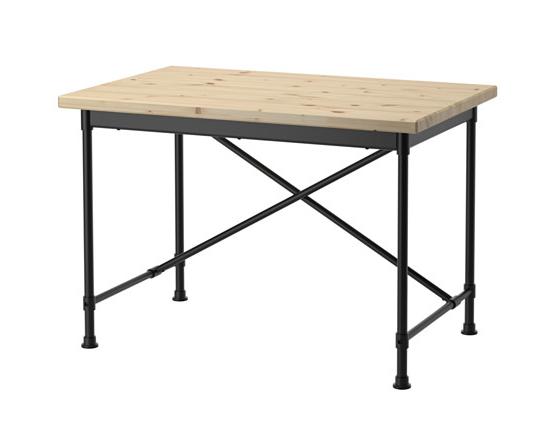≥ modern bureau hout staal ikea kullaberg bij cm