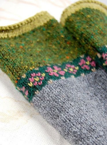 Ravelry: hgd11's Fair Isle Fingerless Mitts | knitting | Pinterest ...