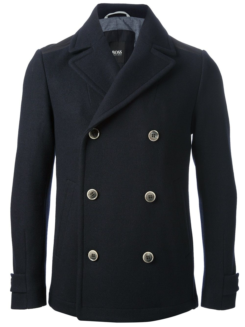 ef22da21e99 Hugo Boss Black Classic Pea Coat Boss Black, Just For Men, Fashion Updates,