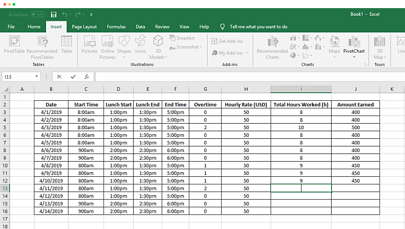 Vacation Time Tracker Excel Template Excel Templates Time Tracker Excel